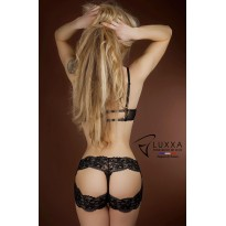 Halter panties Réglisse by Luxxa Lingerie
