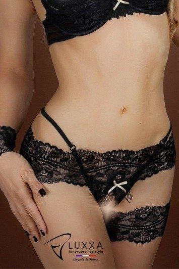 String ouvert Réglisse par Luxxa Lingerie