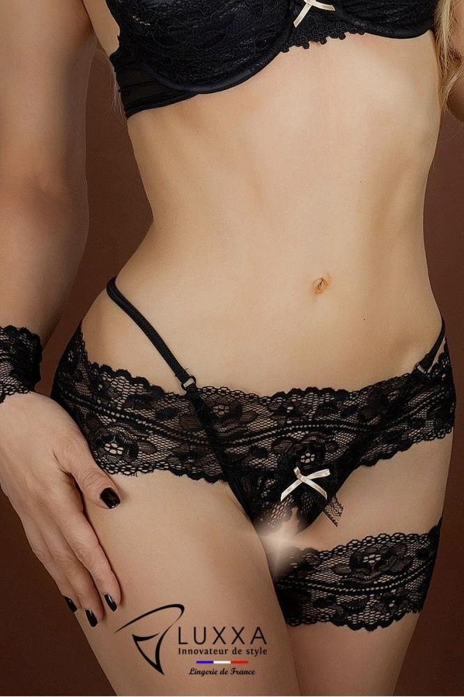 Open string Réglisse by Luxxa Lingerie