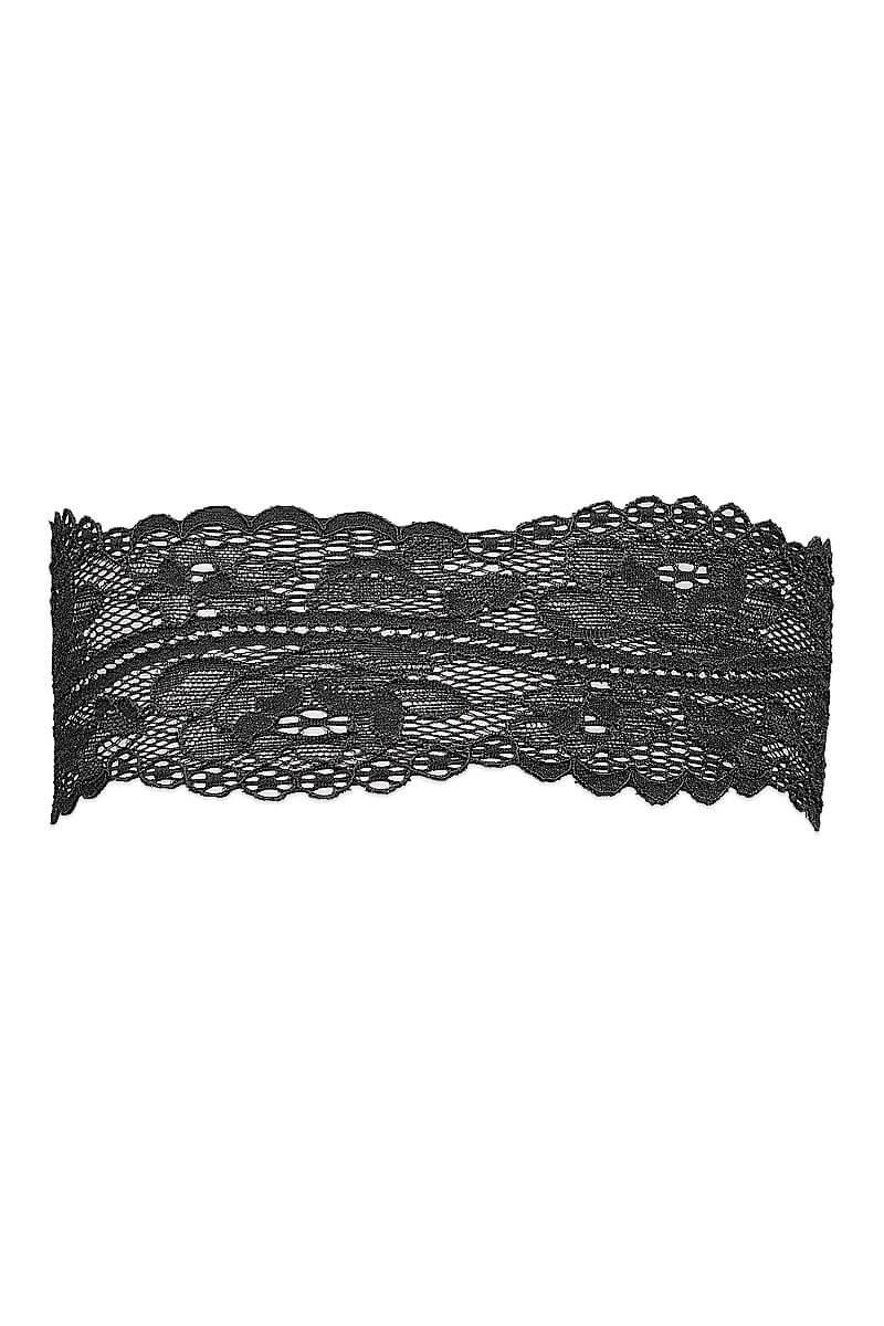 Black lace garter Réglisse by Luxxa Lingerie