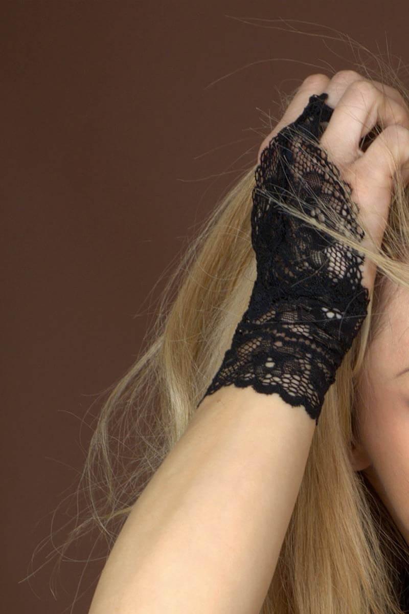Transparent fingerless gloves Réglisse by Luxxa Lingerie