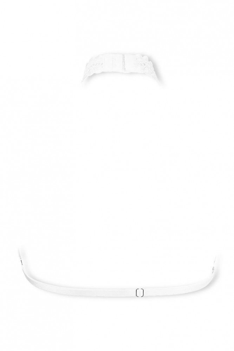 Cachou white skin jewel bra by Luxxa Lingerie