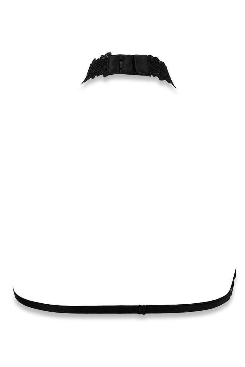 Cachou black skin jewel bra by Luxxa Lingerie