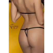 Cachou black sexy twine string by Luxxa Lingerie
