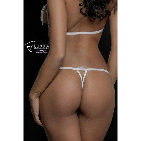 Cachou white sexy twine string by Luxxa Lingerie