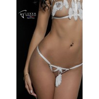 Cachou white naked cage string by Luxxa Lingerie