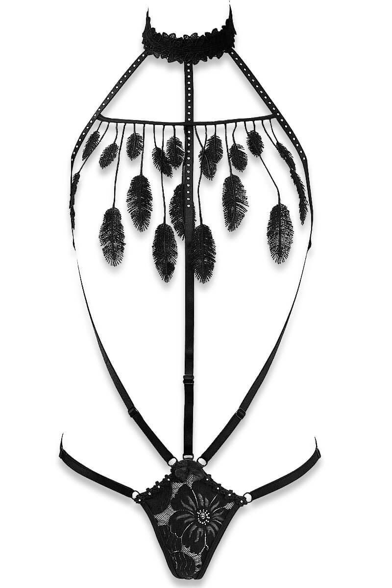 Cachou black nude body by Luxxa Lingerie