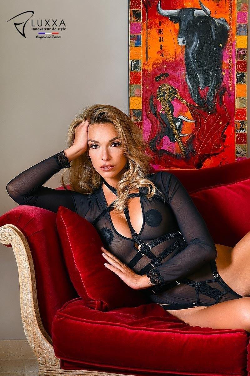 Jeux Interdits long sleeves bodysuit by Luxxa Lingerie
