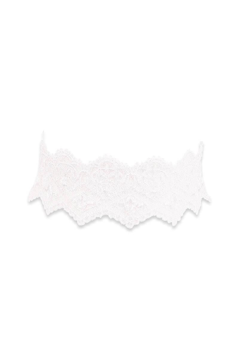 Girly white guipure choker by Luxxa Lingerie
